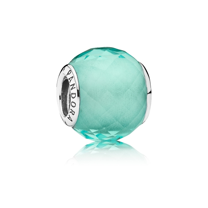 PANDORA_High Summer Collection 2015_Abstract faceted silver charm with synthetic green quartz_HK$399