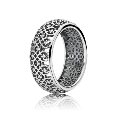 PANDORA_High Summer Collection 2015_Decorative silver ring with cubic zirconia_HK$699