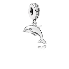 PANDORA_High Summer Collection 2015_Dolphin silver dangle with cubic zirconia_HK$499