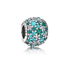 PANDORA_High Summer Collection 2015_Silver charm with pave-set green cubic zirconia_HK$699