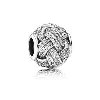 PANDORA_Mother's Day Collection 2015_Love knot silver charm with cubic zirconia_HK$699