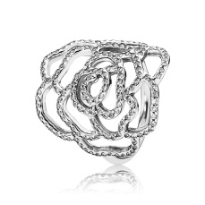 PANDORA_Mother's Day Collection 2015_Medium rose silver ring with cubic zirconia_HK$899