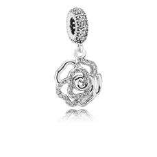 PANDORA_Mother's Day Collection 2015_Rose silver dangle with cubic zirconia_HK$599