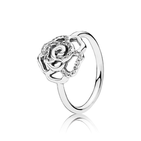 PANDORA_Mother's Day Collection 2015_Rose silver ring with cubic zirconia_HK$599